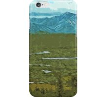 Denali Alaska Rivers Abstract Impressionism iPhone Case/Skin