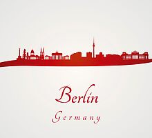 Berlin skyline in red by Pablo Romero