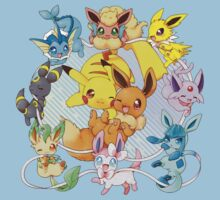 All Eeveelutions and pikachu! by Servil