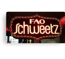 FAO Schweetz Canvas Print