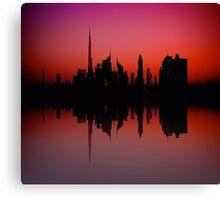City Silhouette - Dubai Canvas Print