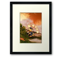 Anime Army Bear Shooting Framed Print