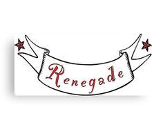 Renegade T-Shirt Canvas Print