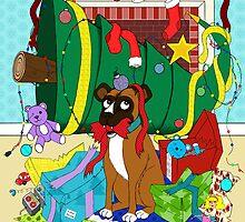 My Dog Ate Christmas by SRowe Art