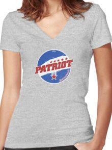 Patriot: Real American Oil Women's Fitted V-Neck T-Shirt