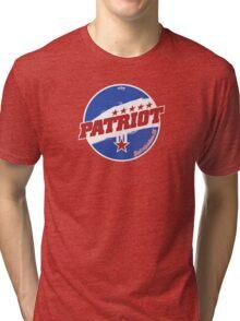 Patriot: Real American Oil Tri-blend T-Shirt