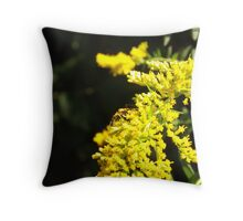 A bumble bee's friend... Throw Pillow