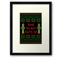 Get Elfd Up Buddy Elf Ugly Christmas Sweater Framed Print