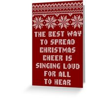 Buddy Elf Spread Christmas Cheer Holiday Ugly Sweater Greeting Card