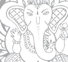 Lord Ganesha Lotus Sticker