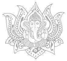 Lord Ganesha Lotus by ginpix