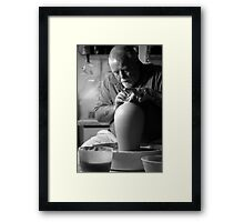 Rory At Work Framed Print