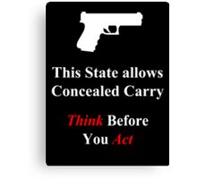Concealed Carrier Canvas Print