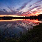 lake platt sunset 12/12/13 by james smith