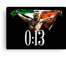CONOR MCGREGOR - 0:13 SECONDS Canvas Print