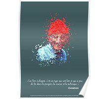 Destructured portrait - Jean Jacques Cousteau Poster