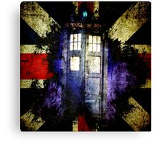 Dr. Who Unijack Canvas Print