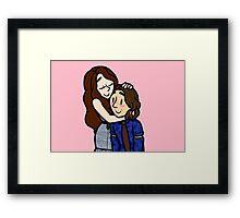 Once Upon A Time Rumbelle Hug Framed Print