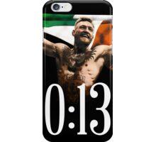 CONOR MCGREGOR 13 SECONDS iPhone Case/Skin