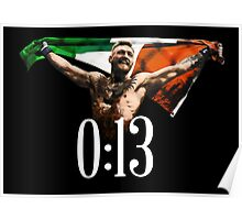 CONOR MCGREGOR 13 SECONDS Poster