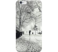 Winter Night - Madison Square Park - New York City iPhone Case/Skin