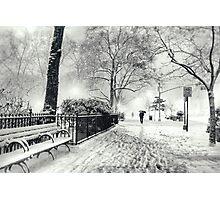 Winter Night - Madison Square Park - New York City Photographic Print