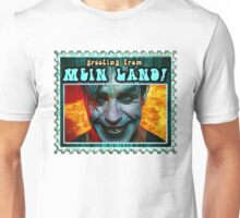 GREETINGS FROM MEIN LAND agua stamp Unisex T-Shirt