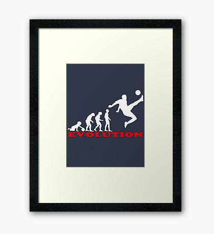 Football, Football Evolution Framed Print