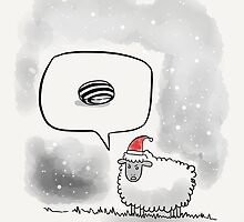 The Sheep who hated Christmas.   by twisteddoodles