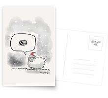 The Sheep who hated Christmas.   Postcards