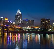 Cincinnati Skyline HDR by FlipsFotos