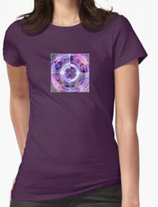 Abstract Morning Glory Fish Eye Collage T-Shirt