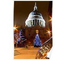 St Pauls Cathederal At Christmas - HDR Poster