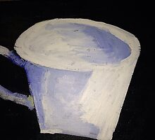 """White Tea Cup"" by VIRGINIA SHELBY POWELL"
