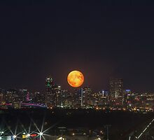 Super Moon over Denver by Jarrett720