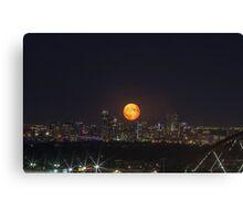 Super Moon over Denver Canvas Print