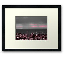 moody weather Framed Print