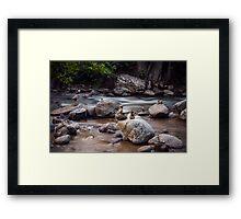 Boulder Creek Balancing Act Framed Print