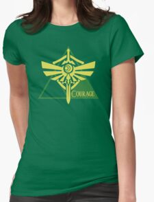 Triforce of Courage Womens Fitted T-Shirt
