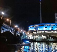 South Bank at Night by Karl Tattersall