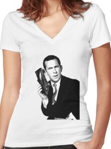 Get Smart- Don Adams Women's Fitted V-Neck T-Shirt