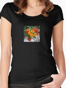 Macro Of Shrub Verbenas or Lantanas (Lantana Camara)  Women's Fitted Scoop T-Shirt