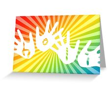 holi hands of color Greeting Card
