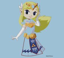 game faces: princess zelda Kids Clothes