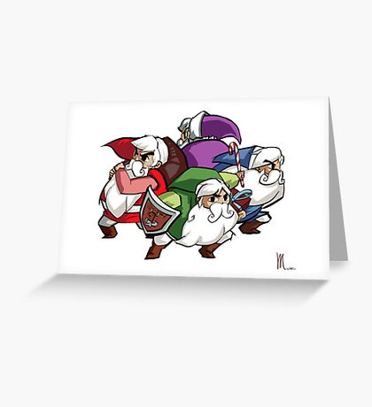 Legend of Santa : FourSacs Greeting Card