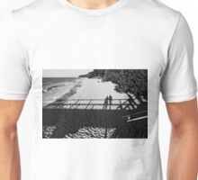 Silhouettes at the beach Unisex T-Shirt