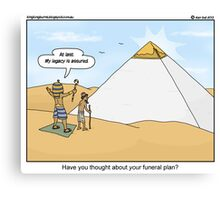 The Pharaoh always plans for the future.  Canvas Print