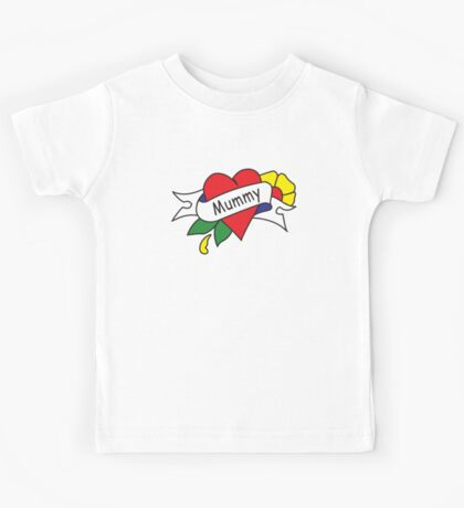 Mummy tattoo kids t-shirt Kids Tee