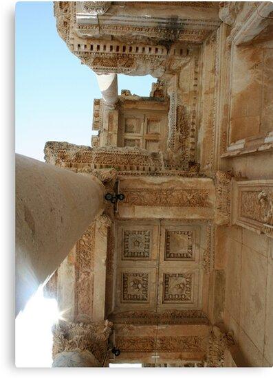 Corinthian Columns Celsus Library in Ephesus, Turkey by taiche