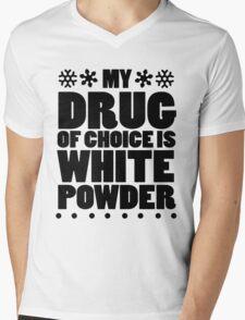 My drug of choice is white powder Mens V-Neck T-Shirt